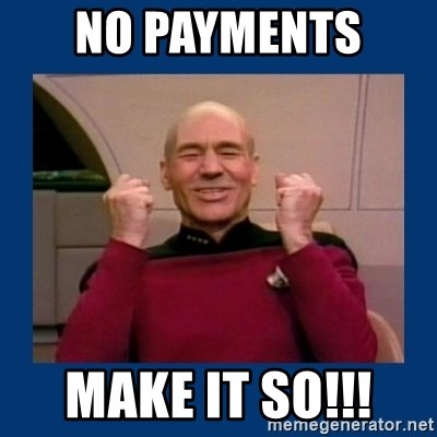 Captain Picard So Much Win! - No payments  make it so!!!