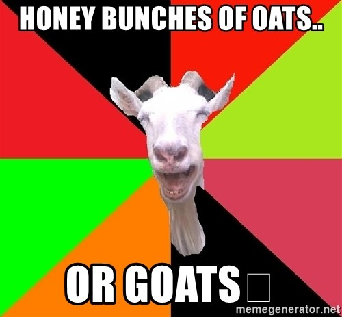 Goats - HONEY BUNCHES OF OATS.. OR GOATS🐐