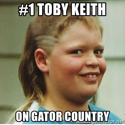 cjhanks - #1 Toby Keith  on gator country