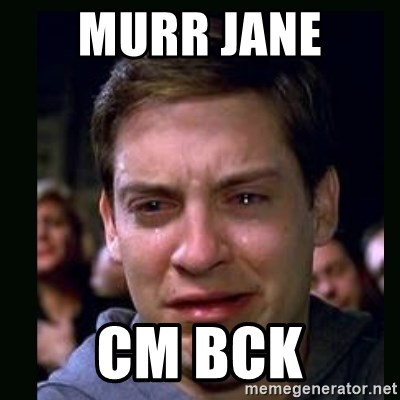 crying peter parker - MURR JANE  CM BCK