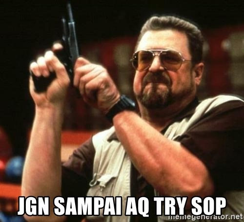 i'm the only one -  jgn sampai aq try sop