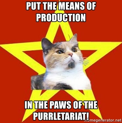Lenin Cat Red - PUT THE MEANS OF PRODUCTION IN THE PAWS OF THE PURRLETARIAT!
