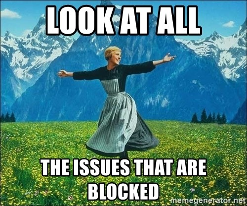Look at all the things - Look at all the issues that are blocked