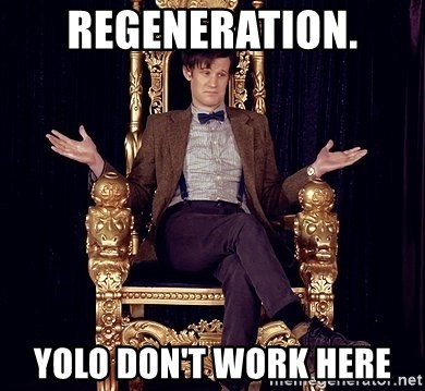 Hipster Doctor Who - regeneration. yolo don't work here