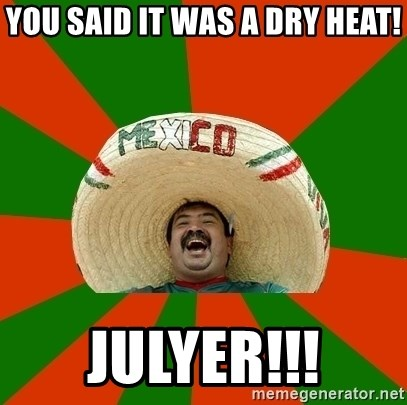 Mexico - YOU SAID IT WAS A DRY HEAT! JULYER!!!