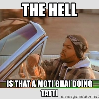 Ice Cube Good Day - THE HELL IS THAT A MOTI GHAI DOING TATTI