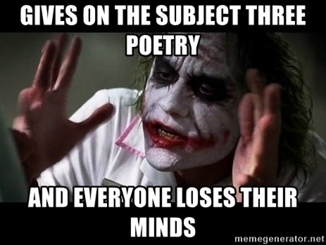 joker mind loss - gives on the subject three poetry and everyone loses their minds