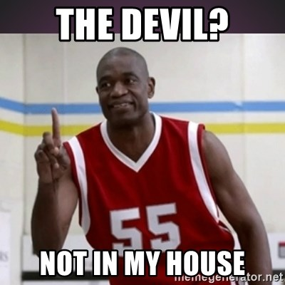 Not in my house Mutombo - The Devil? Not in my house