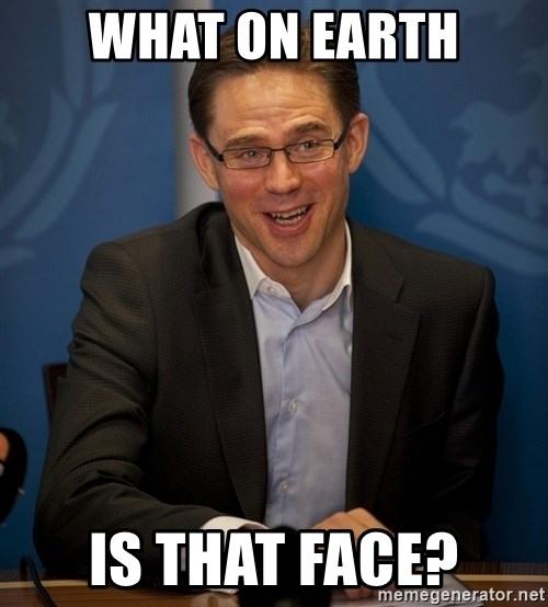 Katainen Perkele - WHAT ON EARTH IS THAT FACE?
