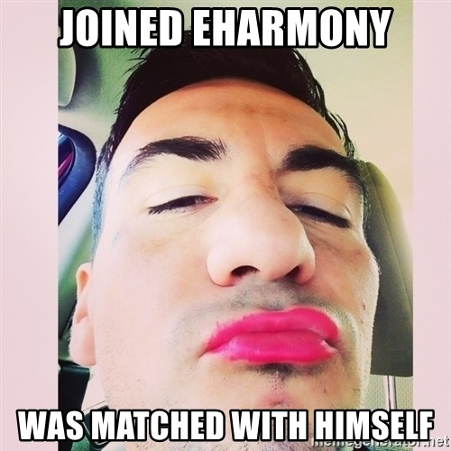 cortez in love - Joined eHarmony Was matched with himself