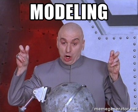 Dr. Evil Air Quotes - Modeling