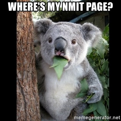 Koala can't believe it - where's my NMIT page?