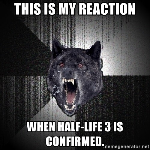 Insanity Wolf - This is my reaction When Half-Life 3 is confirmed.