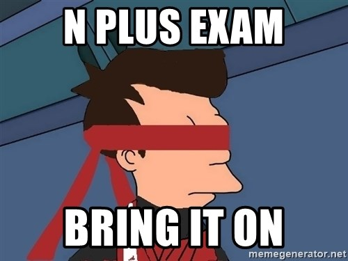 fryshi - N plus exam Bring it on