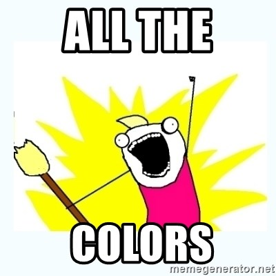 All the things - ALL THE  COLORS