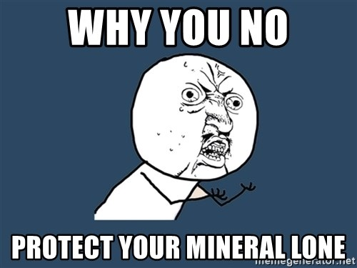 Y U No - WHY YOU NO PROTECT YOUR MINERAL LONE