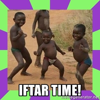 african kids dancing -  Iftar time!