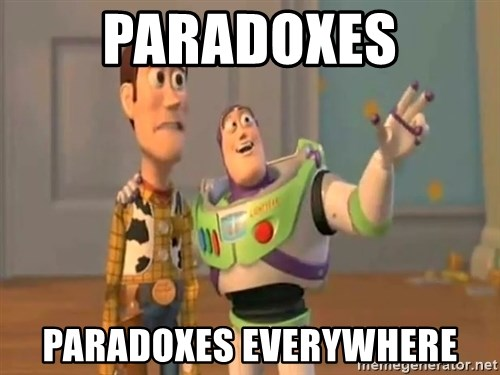 X, X Everywhere  - Paradoxes paradoxes everywhere
