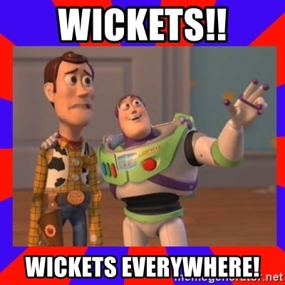 Everywhere - WICKETS!! WICKETS EVERYWHERE!