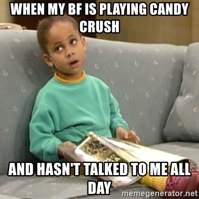 Olivia Cosby Show - When my bf is playing Candy Crush and hasn't talked to me all day