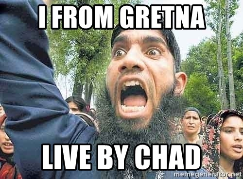 Angry Muslim Guy - I From Gretna live by chad