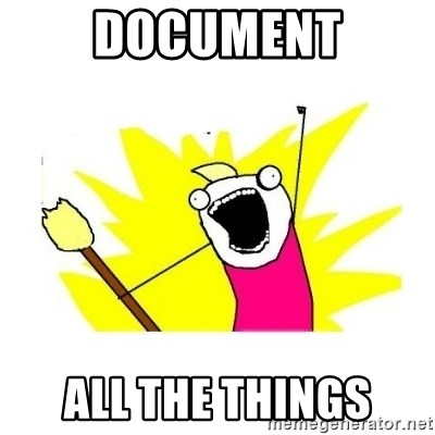 clean all the things blank template - DOCUMENT ALL THE THINGS