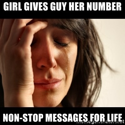 crying girl sad - GIRL GIVES GUY HER NUMBER NON-STOP MESSAGES FOR LIFE
