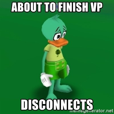Toontown Problems - About to finish VP Disconnects