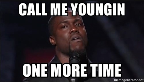 Kevin Hart Face - call me youngin  one more time