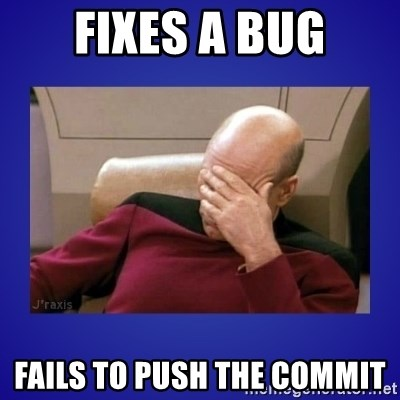 Picard facepalm  - Fixes a bug Fails to push the commit