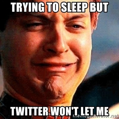 Crying Tobey Maguire - TRYING TO SLEEP BUT TWITTER WON'T LET ME