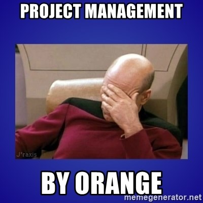 Picard facepalm  - PROJECT MANAGEMENT By Orange