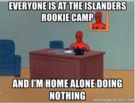 Spiderman Desk - Everyone is at the Islanders rookie camp And I'm home alone doing nothing