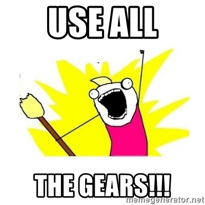 clean all the things blank template - use all the gears!!!
