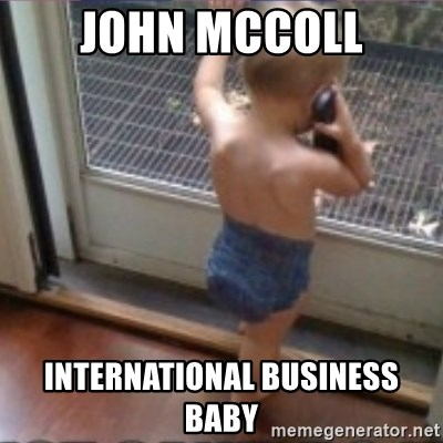 Baby on Phone - john mccoll international business baby