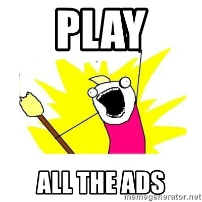 clean all the things blank template - Play All the ads