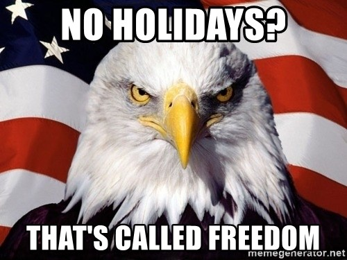 American Pride Eagle - No holidays? That's called freedom