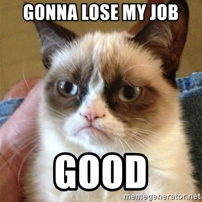 Grumpy Cat  - Gonna Lose my Job Good