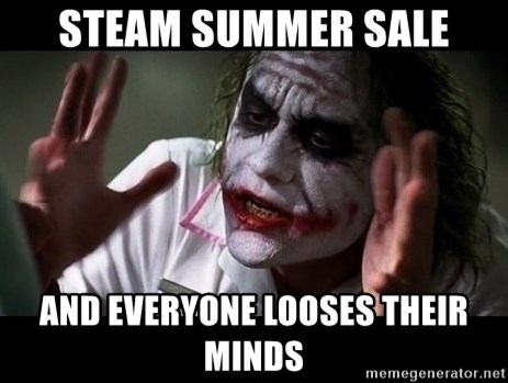 joker mind loss - Steam summer sale and everyone looses their minds