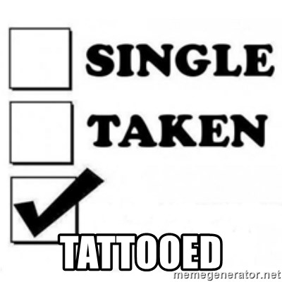 single taken checkbox -  tattooed