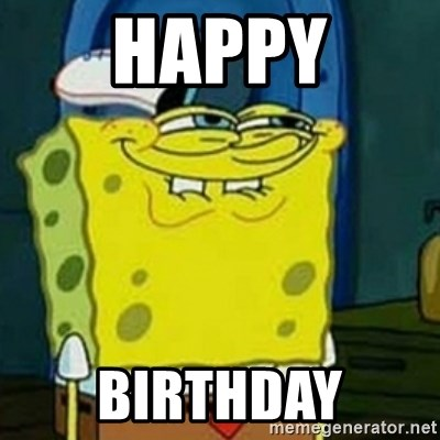 Spongebob Squarepants  - Happy Birthday