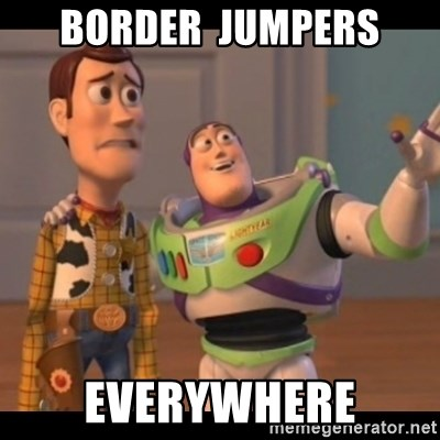 X, X Everywhere  - Border  Jumpers EVERYWHERE