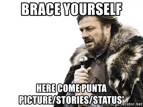 Winter is Coming - Brace yourself Here come punta picture/stories/status'