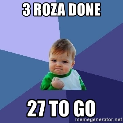 Success Kid - 3 roza done 27 to go