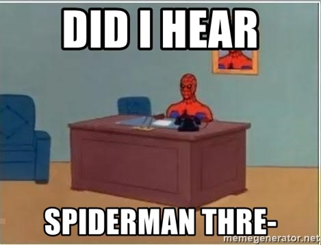 Spiderman Desk - did i hear SPIDERMAN THRE-