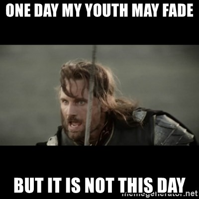 But it is not this Day ARAGORN - One day my youth may fade but it is not this day