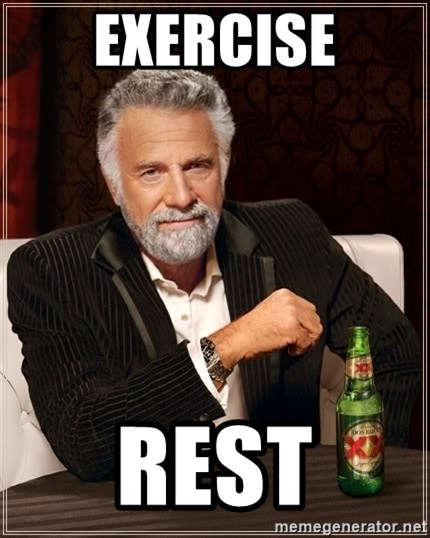 The Most Interesting Man In The World - Exercise Rest