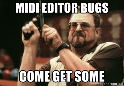 Walter Sobchak with gun - MIDI EDITOR BUGS COME GET SOME