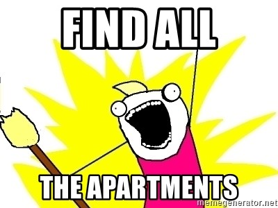 X ALL THE THINGS - FIND all the apartments