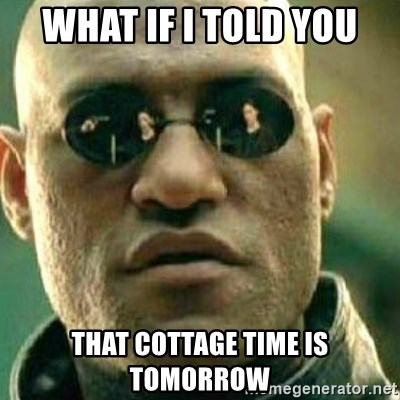 What If I Told You - WHAT IF I TOLD YOU THAT COTTAGE TIME IS TOMORROW